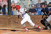 Virgil Hill against the Elizabethton Twins  during the Appalachian League Championship. Johnson City  won 6-2 at Howard Johnson Field, Johnson City Tennessee