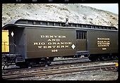 Baggage car #126 at Salida.<br /> D&amp;RGW  Salida, CO