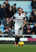 Pictured: Pablo Hernandez of Swansea. 01 February 2014<br /> Re: Barclay's Premier League, West Ham United v Swansea City FC at Boleyn Ground, London.