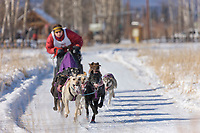 Ross Saunderson races in the 2008 Open North American Championship sled dog race, third heat, March 16, 2008.
