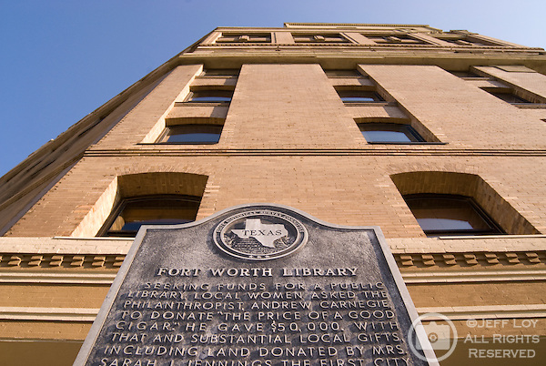The original location of the Fort Worth Public Library in downtown Fort Worth, Texas.