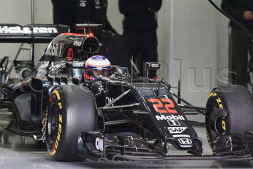 02.03.2016. Barcelona, Spain. Formula 1 winter car testing at Circuit de Barcelona Catalunya Test 2 Day 2.  McLaren Honda MP4-31 – Jenson Button