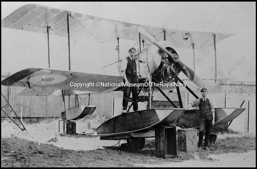 BNPS.co.uk (01202 558833)<br /> Pic: NationalMuseumOfTheRoyalNavy/BNPS<br /> <br /> 1916 Sopwith Baby without the rudimentary rockets fitted.<br /> <br /> From 'Glorified fireworks' to pilotless drones in only 100 years.<br /> <br /> A museum has recreated the world's first air to air missile - almost 100 years to the day after they were first used.<br /> <br /> The worlds only remaining Sopwith Baby seaplane has been fitted with the rockets to show how missile weapons have come on a long way in the last century.<br /> <br /> In 1916 the British boffins used what were essentially glorified fireworks to protect the country from the threat of Zeppelin airship raids.<br /> <br /> The pilots had to get within 200 metres of their target to have any accuracy and risked being shot at or catching on fire themselves if they did hit their target.<br /> <br /> Staff at the Fleet Air Arm Museum near Yeovil, Somerset, have used old engineering drawings and photographs to replicate the aircraft missiles on the only surviving Sopwith Baby in the world for a new exhibition.<br /> <br /> The missiles were called Le Prieur rockets, named after the French lieutenant who invented them, and they were first used at the Battle of Verdun in April 1916.