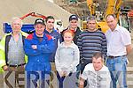 John O'Sullivan, John Dwyer, Jason Cahillane, Larisa Gamble, Conor O'Brien, Brendan O'Brien, Matt Cahillane and Stephen Gamble Killorglin checking out the stone crushers at the Sandvik machinery display in Quirkes Quarry Killarney on Saturday
