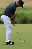 Paul Casey (ENG) putts on the 17th green during Saturday's Round 3 of the Porsche European Open 2018 held at Green Eagle Golf Courses, Hamburg Germany. 28th July 2018.<br /> Picture: Eoin Clarke | Golffile<br /> <br /> <br /> All photos usage must carry mandatory copyright credit (&copy; Golffile | Eoin Clarke)