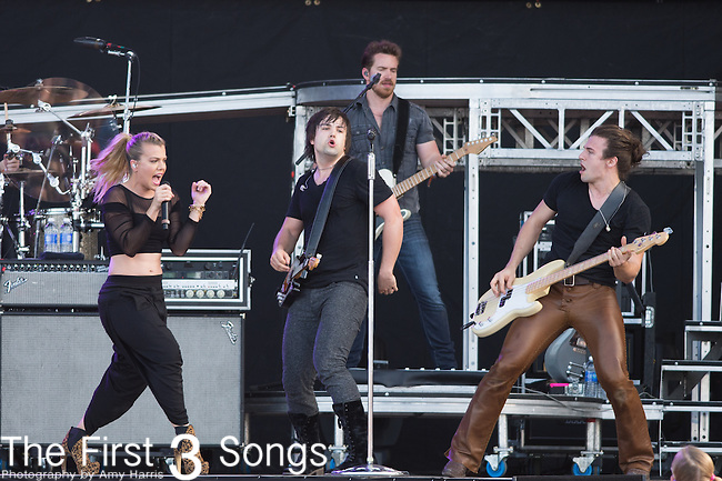 Kimberly Perry, Reid Perry, and Neil Perry of The Band Perry perform onstage during The Tortuga Music Festival in Fort Lauderdale, Florida.