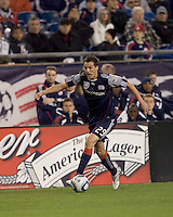 New England Revolution midfielder Marko Perovic (29) moves down the wing. The New England Revolution defeated Toronto FC, 4-1, at Gillette Stadium on April 10, 2010.