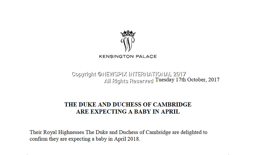 KATE Middleton Baby - Palace Confirm Date