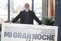 Film director Alex de la Iglesia poses during `Mi gran noche´ film presentation in Madrid, Spain. February 20, 2015. (ALTERPHOTOS/Victor Blanco) /NORTEphoto.com