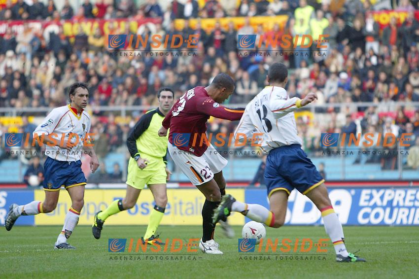 Roma 30/11/2003 <br /> Roma Lecce 3-1<br /> John Carew segna il gol del 2-0 per la Roma<br /> John Carew scores goal of 2-0 for AS Roma<br /> Foto Andrea Staccioli Insidefoto