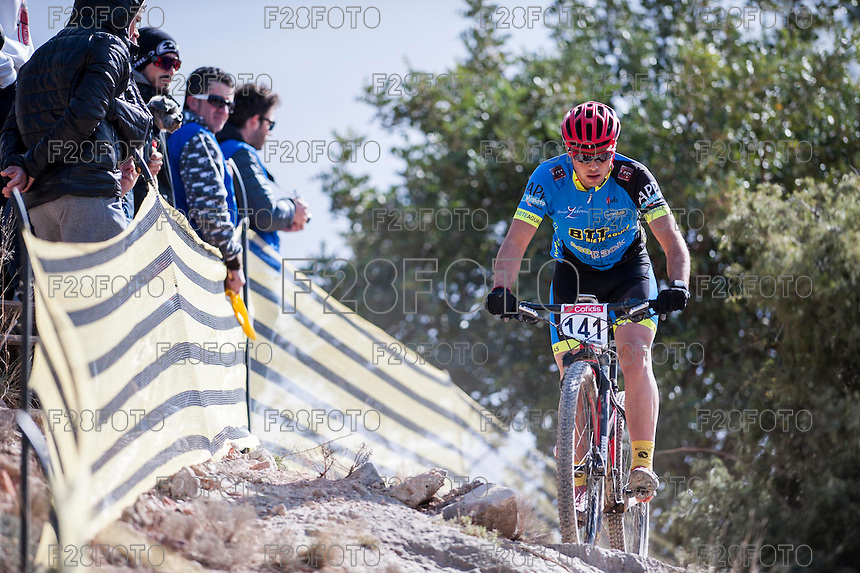 Chelva, SPAIN - MARCH 6: Julio Zahonero during Spanish Open BTT XCO on March 6, 2016 in Chelva, Spain