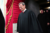 Chief Justice of the United States John Roberts arrives during the presidential inauguration on the West Front of the U.S. Capitol January 21, 2013 in Washington, DC.   Barack Obama was re-elected for a second term as President of the United States.     .Credit: Win McNamee / Pool via CNP