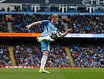 Kevin De Bruyne of Manchester City takes a shot during the English Premier League match at the Etihad Stadium, Manchester. Picture date: May 6th 2017. Pic credit should read: Simon Bellis/Sportimage