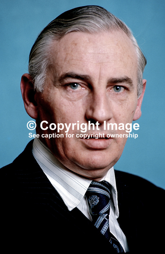 Peter Barry, Rep of Ireland, TD, Minister for Transport & Power, 1975030185a, 185/75..Copyright Image from Victor Patterson, 54 Dorchester Park, Belfast, UK, BT9 6RJ..Tel: +44 28 9066 1296.Mob: +44 7802 353836.Voicemail +44 20 8816 7153.Skype: victorpattersonbelfast.Email: victorpatterson@me.com.Email: victorpatterson@ireland.com (back-up)..IMPORTANT: If you wish to use this image or any other of my images please go to www.victorpatterson.com and click on the Terms & Conditions. Then contact me by email or phone with the reference number(s) of the image(s) concerned.