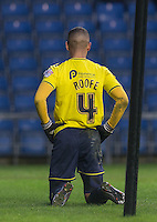 Kemar Roofe of Oxford United after a missed opportunity during the Sky Bet League 2 match between Oxford United and Bristol Rovers at the Kassam Stadium, Oxford, England on 17 January 2016. Photo by Andy Rowland / PRiME Media Images.