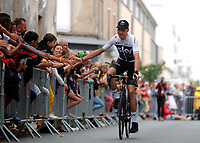 La Roche-sur-Yon place, France - July 5 : FROOME Chris (GBR) of Team SKY during the official team presentation prior the 105th edition of the 2018 Tour de France cycling race on July 5, 2018 in La Roche-sur-Yon place, France, 5/07/2018 <br /> Ciclismo Tour De France 2018 <br /> Foto Photonews / Panoramic / Insidefoto <br /> ITALY ONLY
