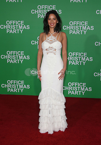 "Westwood, CA - DECEMBER 07: Olivia Munn, At Premiere Of Paramount Pictures' ""Office Christmas Party"" At Regency Village Theatre, California on December 07, 2016. Credit: Faye Sadou/MediaPunch"