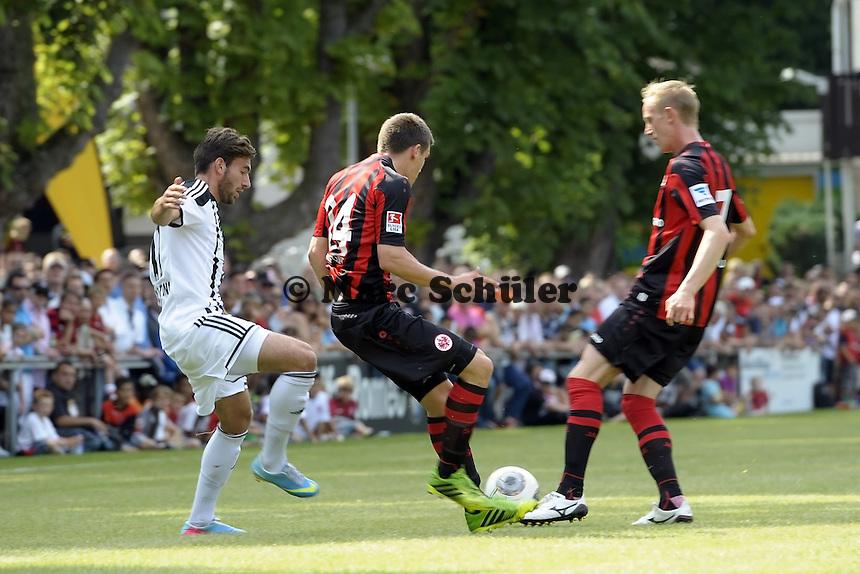 Sebastian Jung und Jan Rosenthal (Eintracht) - Eintracht Frankfurt vs. VfR Aalen