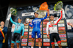 Julian Alaphilippe (FRA) Deceuninck-Quick Step wins the 83rd edition of La Fl&egrave;che Wallonne 2019, with Jakob Fuglsang (DEN) Astana Pro Team 2nd and Diego Ulissi (ITA) UAE Team Emirates 3rd place, running 195km from Ans to Huy, Belgium. 24th April 2019<br /> Photo by Thomas van Bracht / PelotonPhotos.com / Cyclefile