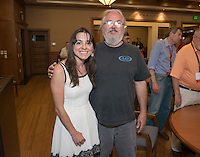 Young Alumna of the Year Jessica Abenstein '08 talks about Islam in the Caucasus and Russia's Ethnic Policies with professor Walter Richmond in the Cushman Boardroom of Hinchliffe Hall (formerly Dumke Faculty Commons).<br />