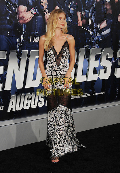 HOLLYWOOD, CA- AUGUST 11: Actress/model Rosie Huntington-Whiteley arrives at the Los Angeles premiere of 'The Expendables 3' at TCL Chinese Theatre on August 11, 2014 in Hollywood, California.<br /> CAP/ROT/TM<br /> &copy;Tony Michaels/Roth Stock/Capital Pictures