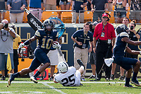 Pitt kickoff return by Quadree Henderson. The Pitt Panthers defeated the Penn State Nittany Lions 42-39 at Heinz Field, Pittsburgh, Pennsylvania on September 10, 2016.