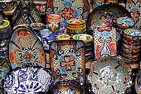 Talavera pottery from Guanajuato for sale in San Miguel de Allende, Mexico