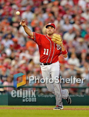 19 May 2012: Washington Nationals third baseman Ryan Zimmerman in action against the Baltimore Orioles at Nationals Park in Washington, DC. The Orioles defeated the Nationals 6-5 in the second game of their 3-game series. Mandatory Credit: Ed Wolfstein Photo