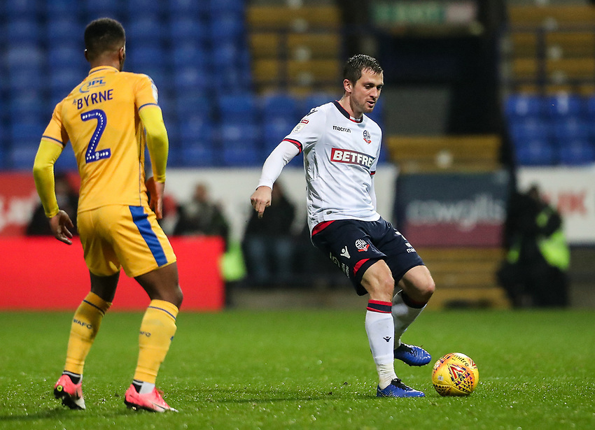 Bolton Wanderers' Andrew Taylor <br /> <br /> Photographer Andrew Kearns/CameraSport<br /> <br /> The EFL Sky Bet Championship - Bolton Wanderers v Wigan Athletic - Saturday 1st December 2018 - University of Bolton Stadium - Bolton<br /> <br /> World Copyright © 2018 CameraSport. All rights reserved. 43 Linden Ave. Countesthorpe. Leicester. England. LE8 5PG - Tel: +44 (0) 116 277 4147 - admin@camerasport.com - www.camerasport.com