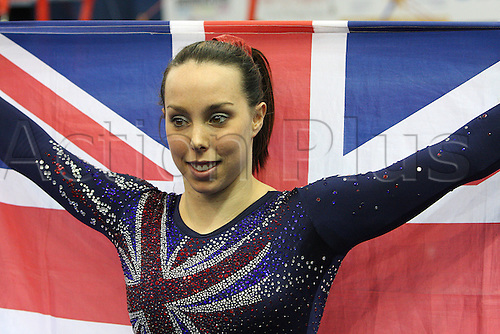 Elizabeth Tweddle of Great Britain wins the golden medal at the floor during the senior women apparatus final at the European Artistic Gymnastics Championship at National Indoor Arena in Birmingham, UK on May 2, 2010.