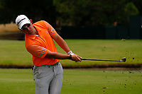 Lucas Herbert (AUS) chipping onto the 3rd green during round 2 of the Australian PGA Championship at  RACV Royal Pines Resort, Gold Coast, Queensland, Australia. 20/12/2019.<br /> Picture TJ Caffrey / Golffile.ie<br /> <br /> All photo usage must carry mandatory copyright credit (© Golffile | TJ Caffrey)