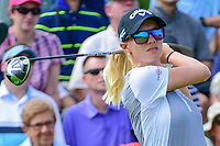 Madelene Sagstrom (SWE) watches her tee shot on 1 during Saturday's third round of the 72nd U.S. Women's Open Championship, at Trump National Golf Club, Bedminster, New Jersey. 7/15/2017.<br /> Picture: Golffile | Ken Murray<br /> <br /> <br /> All photo usage must carry mandatory copyright credit (&copy; Golffile | Ken Murray)
