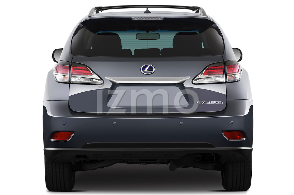 Straight rear view of a 2013 Lexus RX 450H