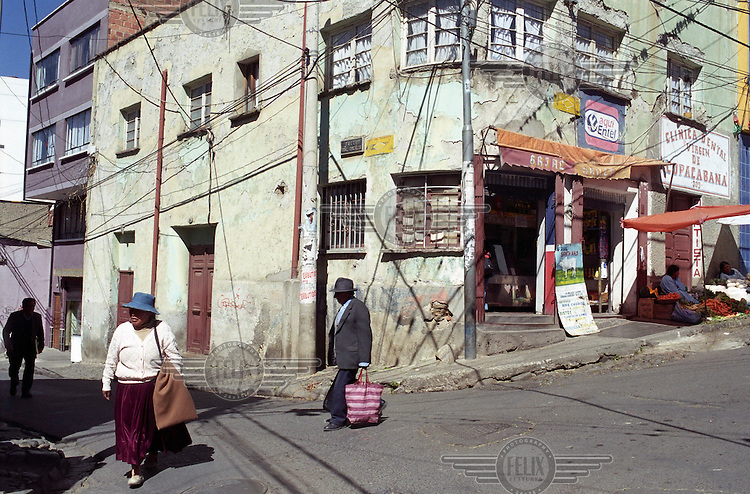 A street corner in La Paz.