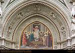Main Portal Lunette detail Barabino 19th c Facade Santa Maria del Fiore Florence