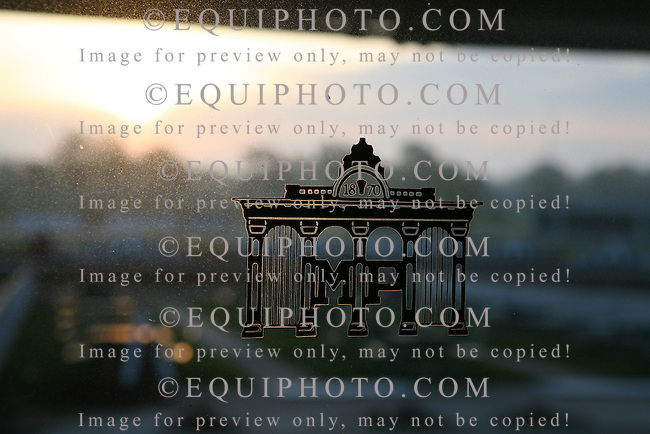 Morning Activities at Monmouth Park Racetrack in Oceanport, N.J.