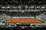 (KIKA) - TORINO - 01/02/2013 - Coppa Davis Italia - Croazia, Primo Turno Gruppo Mondiale. Paolo LORENZI vs. Marin CILIC, primo incontro di Coppa Davis al Palavela di Torino, il 1 febbraio 2013. Cilic batte Lorenzi 3 a 2.