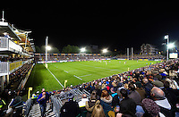 A general view of the Recreation Ground pitch during the match. Aviva Premiership match, between Bath Rugby and Sale Sharks on October 7, 2016 at the Recreation Ground in Bath, England. Photo by: Patrick Khachfe / Onside Images