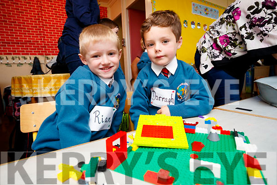 Pictured on the first day of school at Scoil Eoin Balloonagh, Tralee on Wednesday morning last, were l-r: Rian McCoy and Darragh Magnier,
