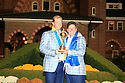 Peter Hanson of Team Europe poses with Jose Maria Olazabal after the closing ceremony of the 39th Ryder Cup matches, Medinah Country Club, Chicago, Illinois, USA.  28-30 September 2012 (Picture Credit / Phil Inglis)
