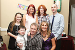 David Thornton with his family at his Birthday Party in Harry's. ..(Photo credit should read Jenny Matthews www.newsfile.ie)....This Picture has been sent you under the condtions enclosed by:.Newsfile Ltd..The Studio,.Millmount Abbey,.Drogheda,.Co Meath..Ireland..Tel: +353(0)41-9871240.Fax: +353(0)41-9871260.GSM: +353(0)86-2500958.email: pictures@newsfile.ie.www.newsfile.ie.