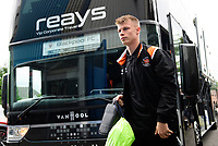 Blackpool's Calum MacDonald gets off the team bus after arriving at the ground<br /> <br /> Photographer Chris Vaughan/CameraSport<br /> <br /> The EFL Sky Bet League One - Coventry City v Blackpool - Saturday 7th September 2019 - St Andrew's - Birmingham<br /> <br /> World Copyright © 2019 CameraSport. All rights reserved. 43 Linden Ave. Countesthorpe. Leicester. England. LE8 5PG - Tel: +44 (0) 116 277 4147 - admin@camerasport.com - www.camerasport.com