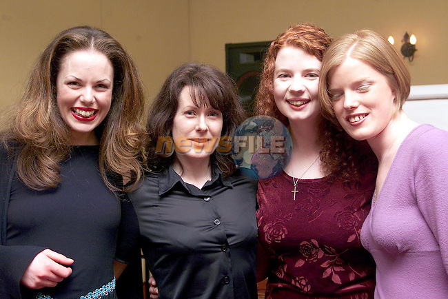 Melanie Mulroy, Yvonne Morgan, Joanne Perkins and Andrea Durnin at Calipo Theatre Company's 5th Birthday in the Westcourt Hotel..Picture Paul Mohan Newsfile