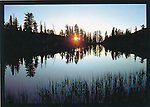 FB 11, 5x7 postcard,  sunset on alpine lake
