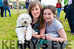 Mary O'Neill (Ballydavid) and Leanne O'Donnell (Dingle) with Poppy at the West Kerry Agricultural Show at the Dingle Mart on Sunday.
