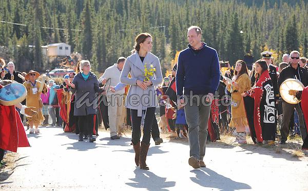 28 September 2016 - Carcross, Yukon Territory, Canada - Princess Kate Duchess of Cambridge and Prince William Duke of Cambridge visit Carcross Commons at the Yukon River in Carcross, Yukon Territory, Canada. Photo Credit: AdMedia