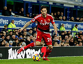 5th November 2017, Goodison Park, Liverpool, England; EPL Premier League Football, Everton versus Watford; Kiko Femenia of Watford goes for the deadball line