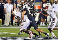 Florida International University football player defensive back Justin Halley (32) plays against the Florida Atlantic University on November 12, 2011 at Miami, Florida. FIU won the game 41-7. .