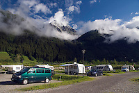 Antholz,  South Tyrol, June 2007. Camping Antholz. The Valley of Antholz is surrounded by mountains of over 3000 meters. South Tyrol used to be part of Austria until it became part of Italy after WWI. Photo by Frits Meyst/Adenture4ever.com