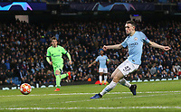 Manchester City's Phil Foden scores his sides sixth goal <br /> <br /> Photographer Rich Linley/CameraSport<br /> <br /> UEFA Champions League Round of 16 Second Leg - Manchester City v FC Schalke 04 - Tuesday 12th March 2019 - The Etihad - Manchester<br />  <br /> World Copyright © 2018 CameraSport. All rights reserved. 43 Linden Ave. Countesthorpe. Leicester. England. LE8 5PG - Tel: +44 (0) 116 277 4147 - admin@camerasport.com - www.camerasport.com